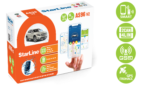 StarLine AS96 v2 BT 2CAN+4LIN GSM GPS