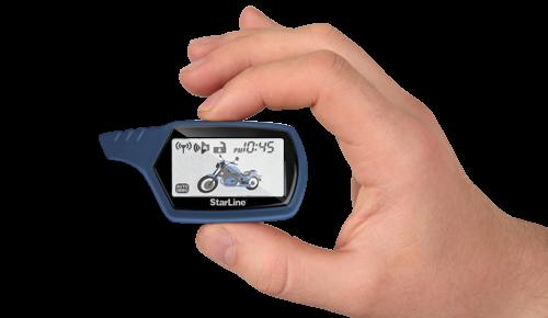 Брелок к мотосигнализации StarLine MOTO V7 с дисплеем